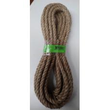 Веревка джутовая 3-прядная d 10мм. 10м.