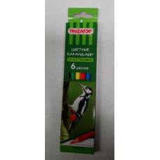Карандаши цветные Пифагор 6 цветов